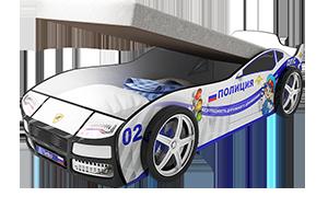 Купить со скидкой Турбо Полиция с подъемным матрасом - кровать-машинка.