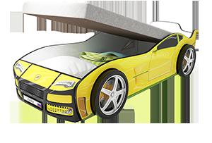 Турбо Желтая с подъемным матрасом - кровать-машинка. Серия механизмом